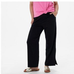 Denim & Co. Beach Pull-on Pants with Side Slits Si